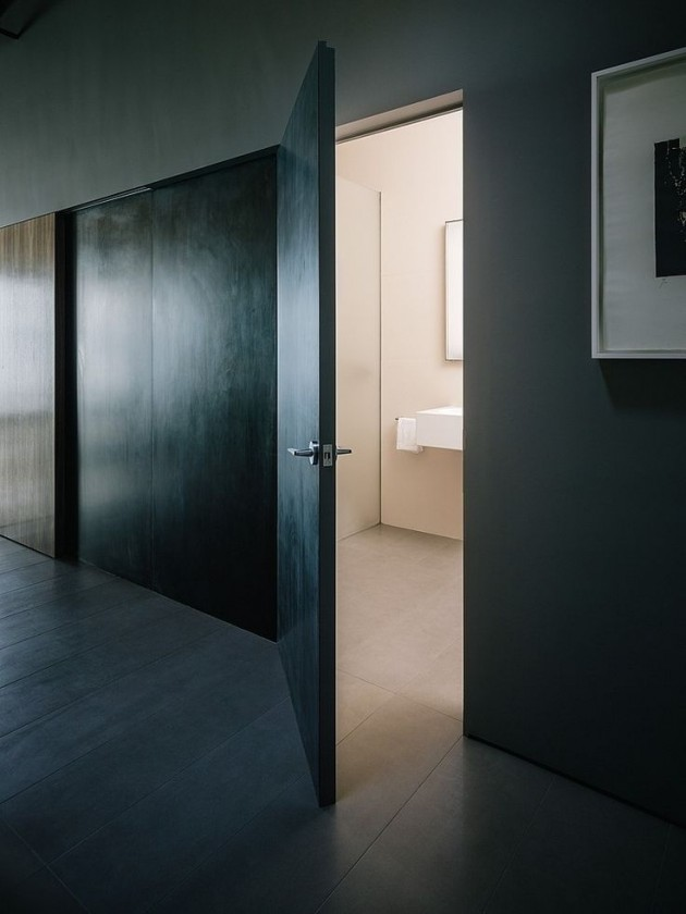 porte salle de bain metalique cache