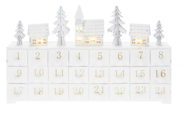 calendriers de l'Avent déco lumineux led bois deco