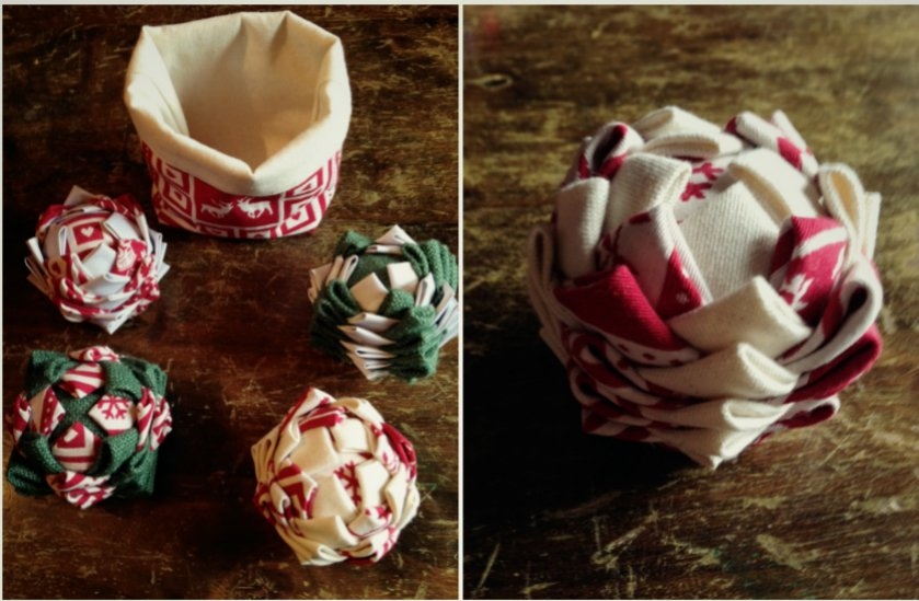 Tuto DIY boule de Noël en tissu   Blog Déco   Clem Around The Corner