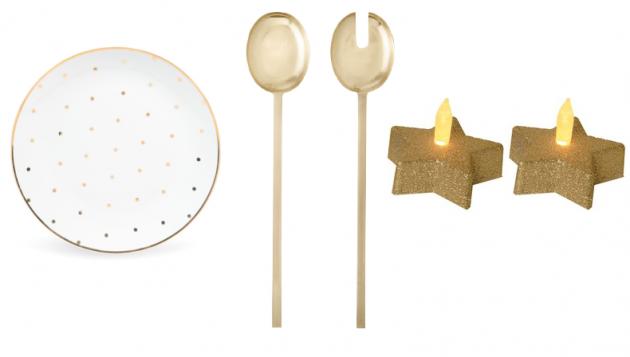accessoire cuisine doré or