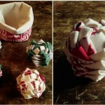 Tuto DIY boule de Noël en tissu polystyrene