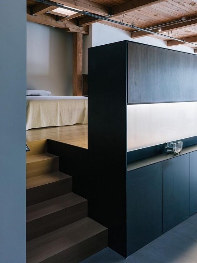 chambre loft minimaliste