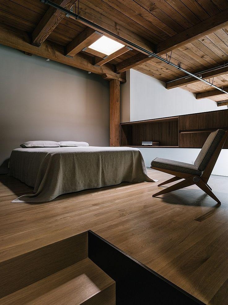 chambre minimaliste decor bois