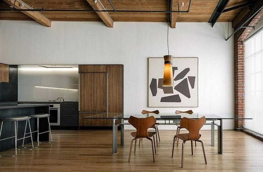 Visite un loft minimaliste en californie clem around the corner - Tafel salle a manger loft ...