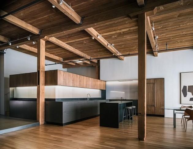 loft minimaliste cuisine ouverte