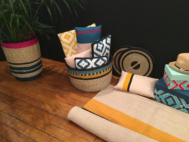 sarah lavoine pour monoprix déco maison coussin tapis