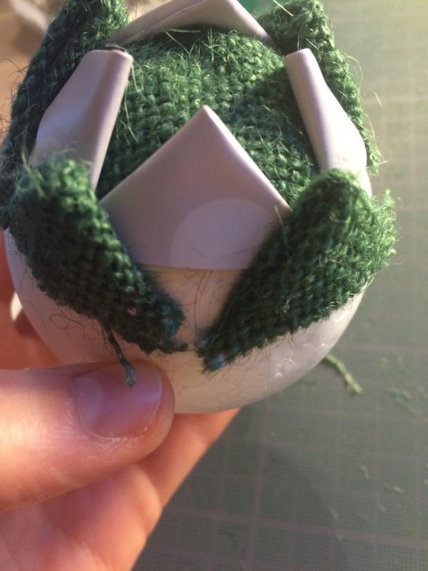 tuto pour fabriquer une boule de noël en tissu