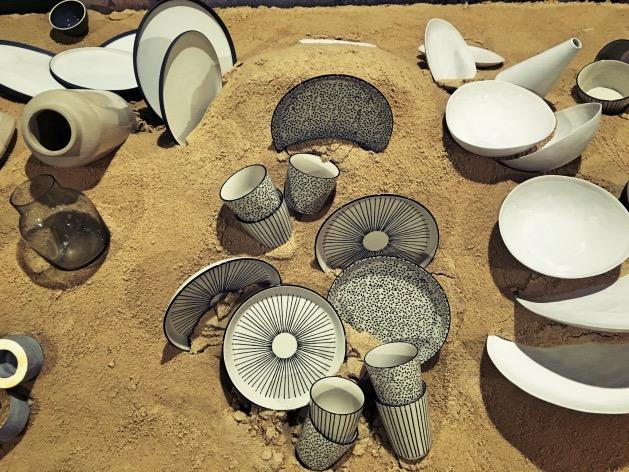 vaisselle grece dans le sable monoprix maison déco
