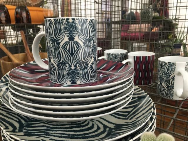 vaisselle monoprix maison déco collection zebre bol assiette tasse