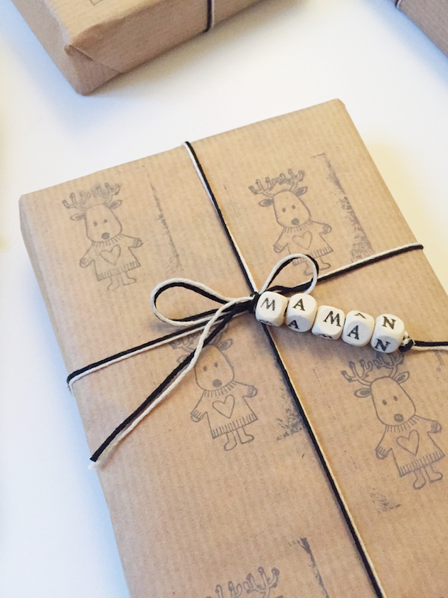 papier cadeau personnalisable gratuit fete des meres noel maman