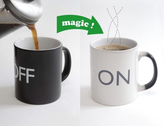 mug qui change de couleur avec la chaleur on off