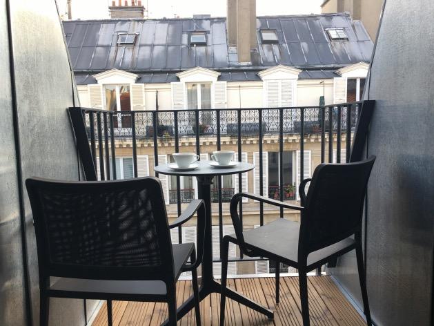 hotel design paris terrasse balcon cafe