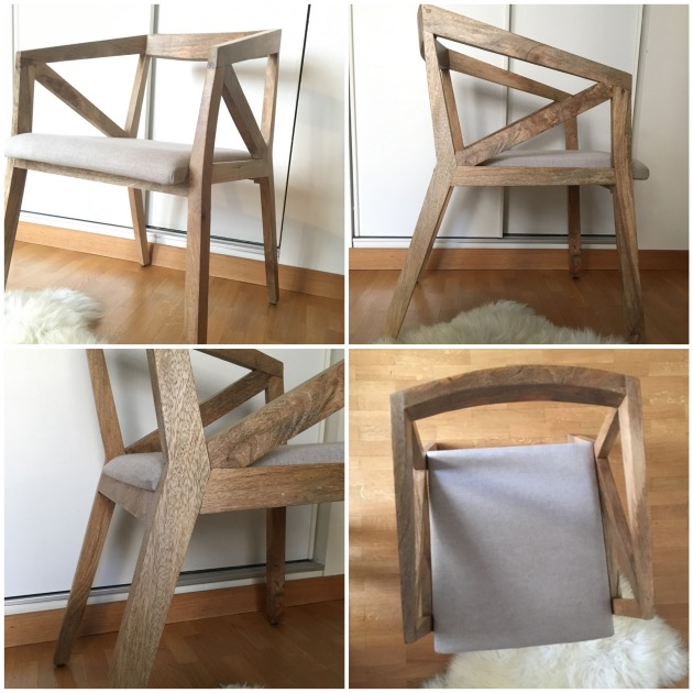 mon coin lecture fauteuil bois massif style scandinave