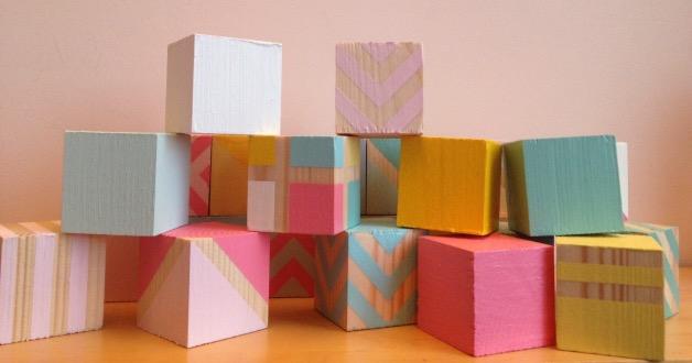Pas a pas DIY cubes en bois pour bebe
