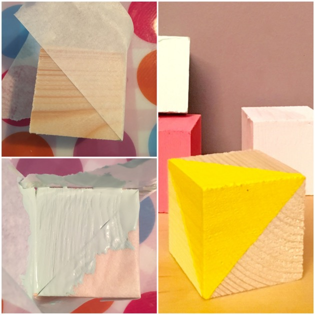 DIY cubes en bois triangle