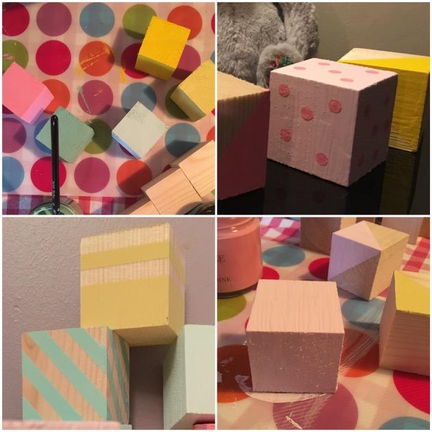 diy cube bebe enfant en bois peint