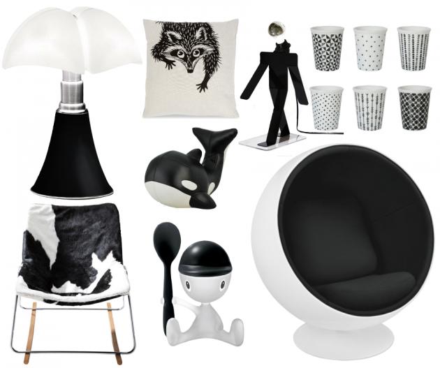 Idees cadeaux de Noel selection noire et blanche