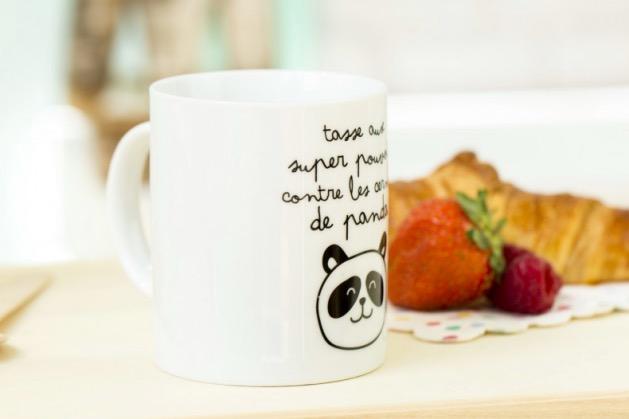 mug cerne de panda Mr Wonderful
