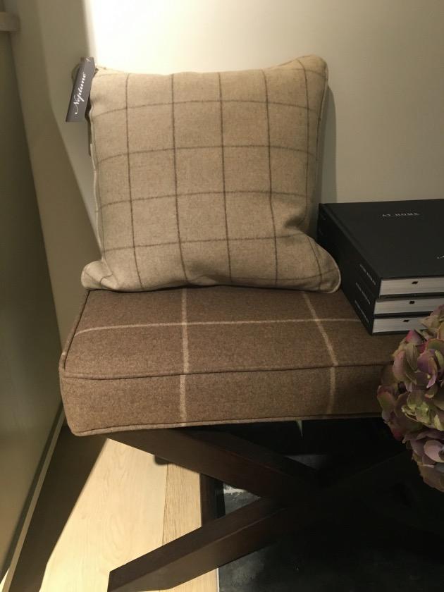 banc en laine porte bagage style anglais chic
