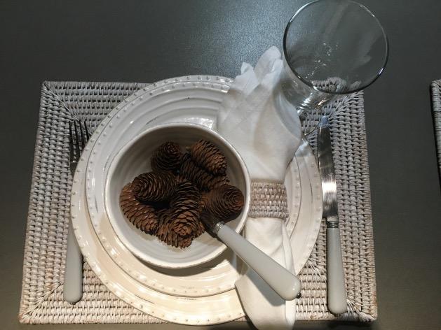 décoration d'hiver table de salle à manger