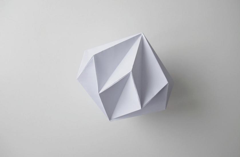 DIY : Guirlande origami diamand