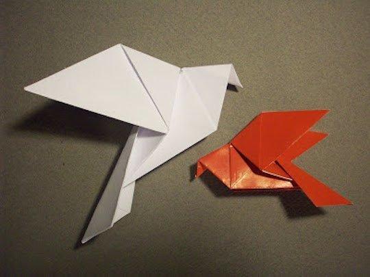 DIY guirlande origami oiseau
