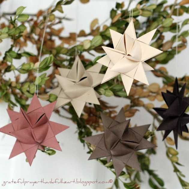 diy guirlande origami etoile pour sapin de noel