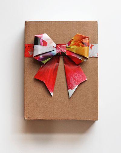 diy guirlande origami gros noeud papier cadeau