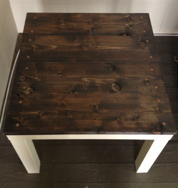 Customiser une table basse ikea blog d co clem around for Recouvrir une table de zinc
