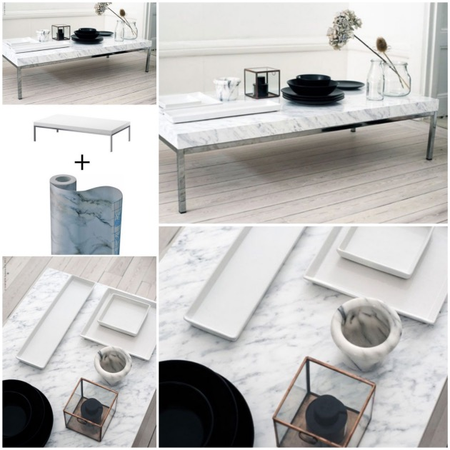 Customiser une table basse ikea blog d co clem around the corner - Customiser une table ...