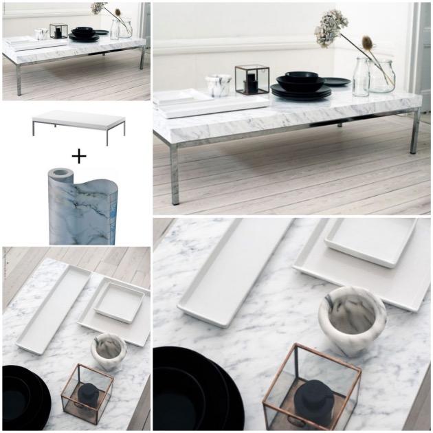 Customiser une table basse ikea blog d co clem around the corner - Customiser une table ...