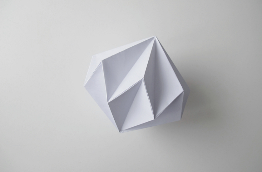 DIY : Guirlande origami diamand