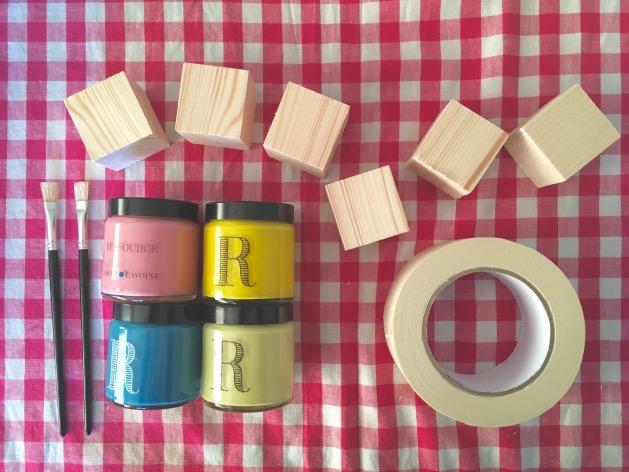 DIY cubes en bois materiel necessaire