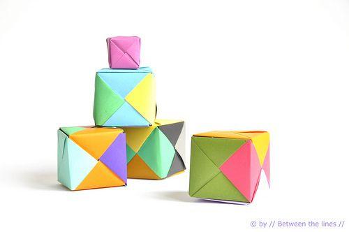 DIY guirlande origami boite cadeau de noel