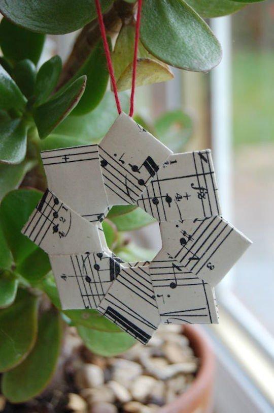 DIY guirlande origami etoile 8 branches