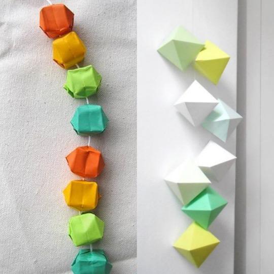 DIY guirlande origami losange