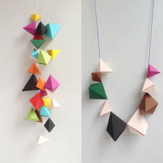 DIY guirlande origami petite boite