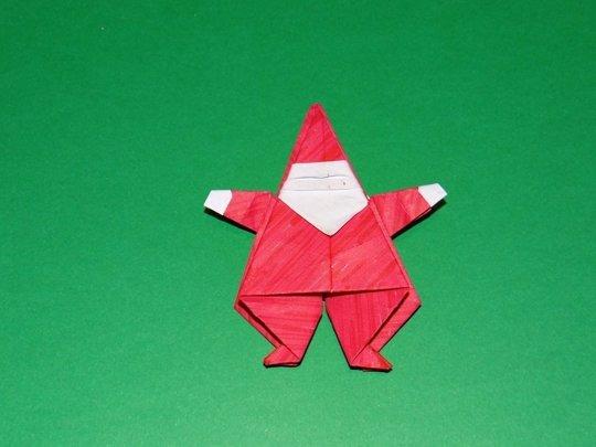 DIY pere noel origami papier