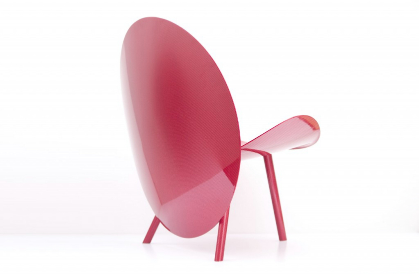 Michael Sodeau chaise Halo par Hypetex fibre de carbone