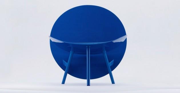 le fauteuil chaise Halo par Hypetex fibre de carbone