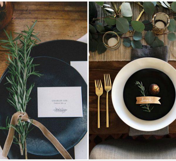 Table de Noel dorée : assiette, couverts, verre en or