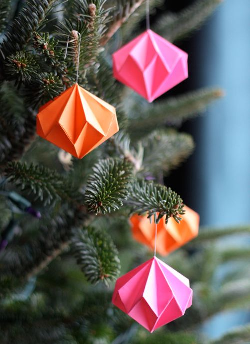 decoration sapin en origami