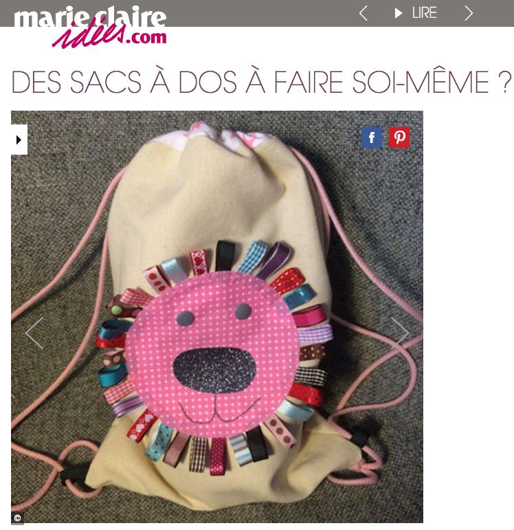 coudre fabriquer un sac de gouter pour enfant forme lion