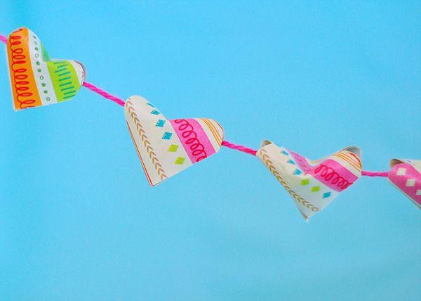 diy guirlande origami coeur
