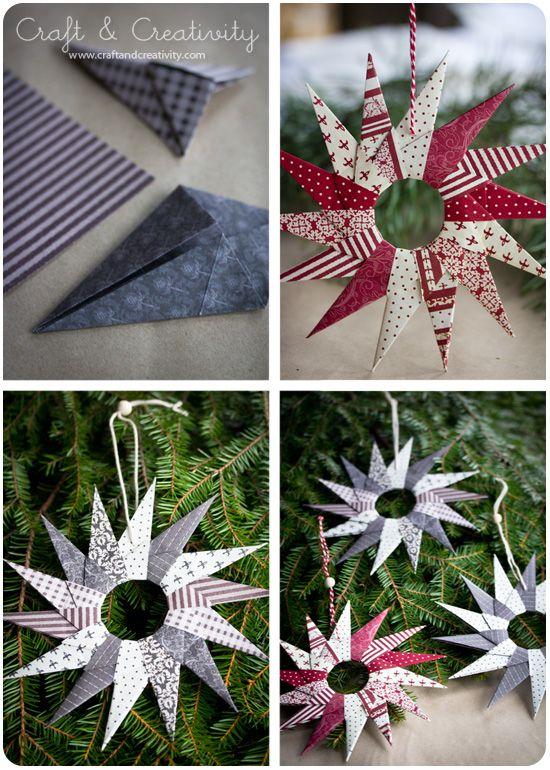 diy guirlande origami deco de noel sapin