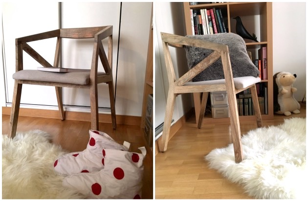 mon coin lecture chaise bois massif style scandinave