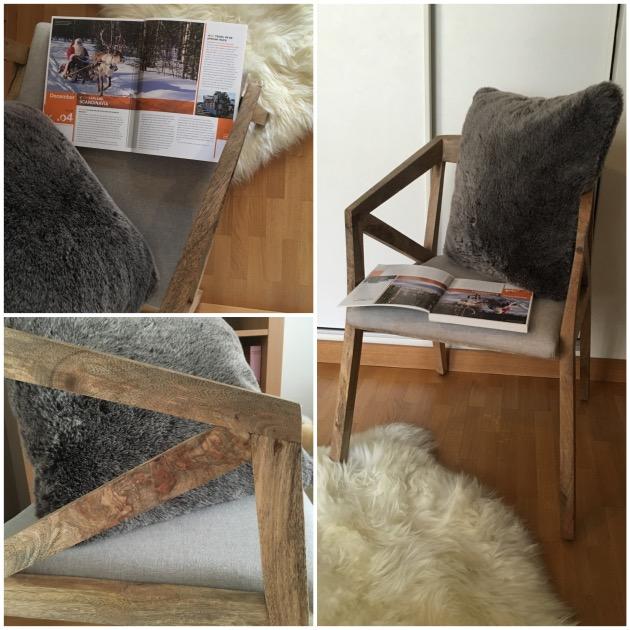 mon coin lecture fauteuil bois massif scandinave