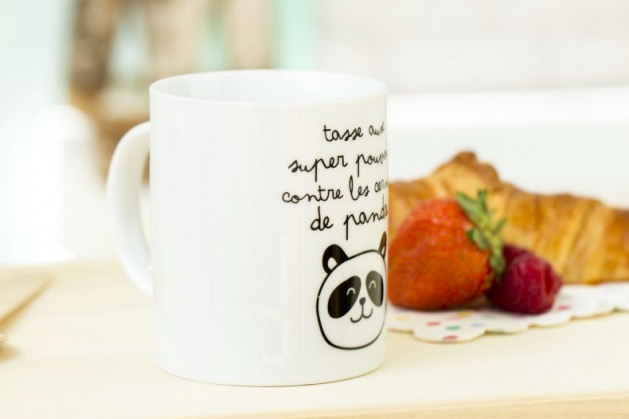mug cerne de panda Mr Wonderful