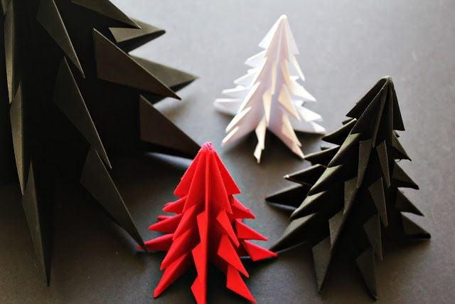 Diy Guirlande Origami Et Id Es De D Coration De Sapin