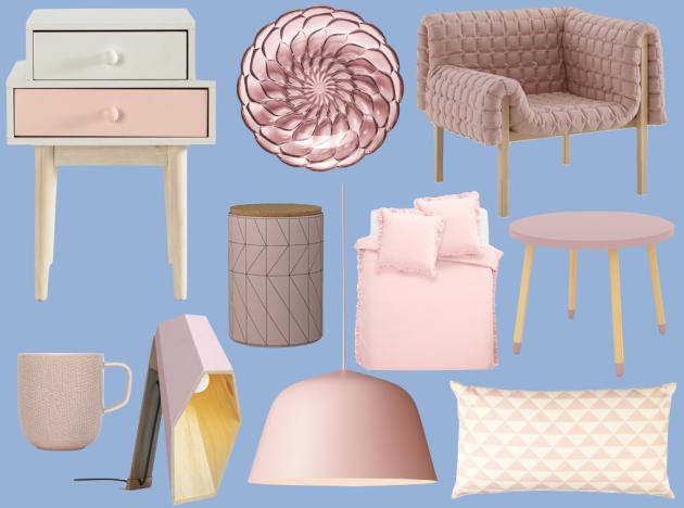 pantone rose quartz et serenity meuble